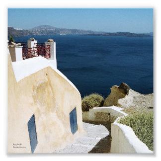 Greek island Santorini print Photo Print