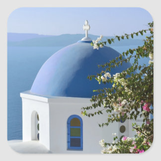 Greek Island Scene Stickers
