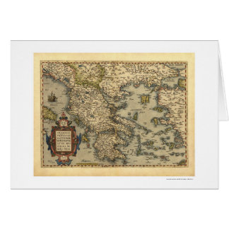 Greek Islands Map Ortelius 1570 Card