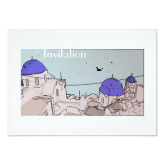 Greek Islands Wedding Celebrations 13 Cm X 18 Cm Invitation Card