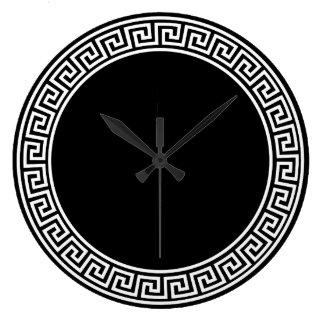 Greek Key Design Large Clock