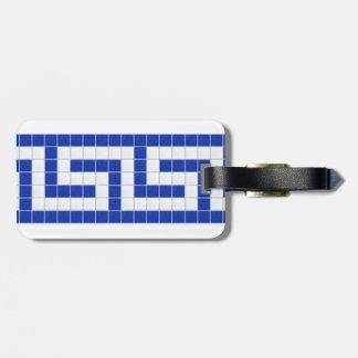 Greek Key Luggage Tag
