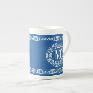 Greek Key Monogram China Specialty Mugs