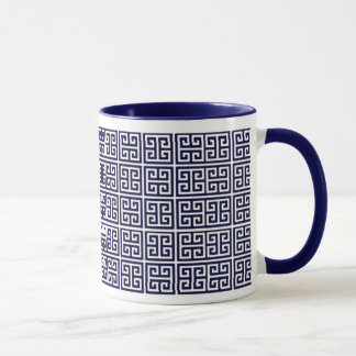 greek key pattern mug