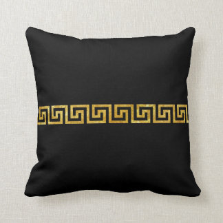 Greek Key Pattern Throw Pillow