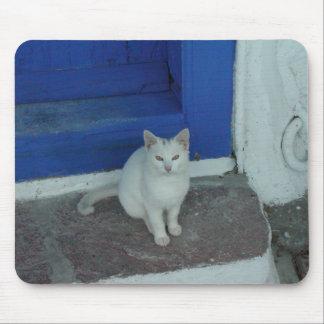 Greek Kitty Mouse Mat