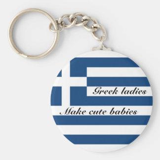 Greek ladies make cute babies key ring