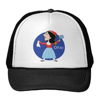 Greek Lady Dancing Hats