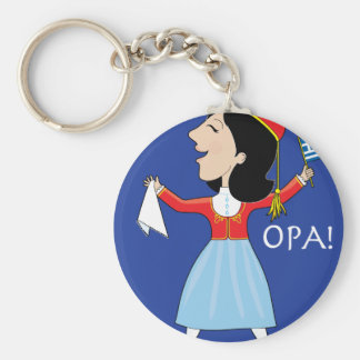 Greek Lady Dancing Key Ring