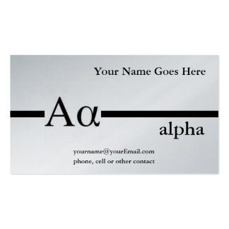 Greek Letter Alpha Custom Design Business Card Template