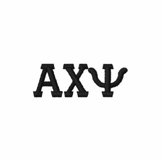 Greek Letter Alphabet Custom Design Embroidered Polo Shirt