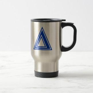 Greek Letter Delta Blue Monogram Initial Travel Mug