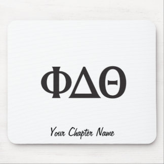 Greek Letters- Black Mouse Mat