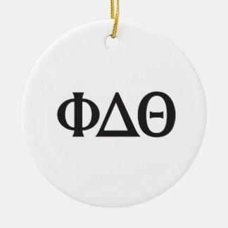 Greek Letters- Black Round Ceramic Decoration