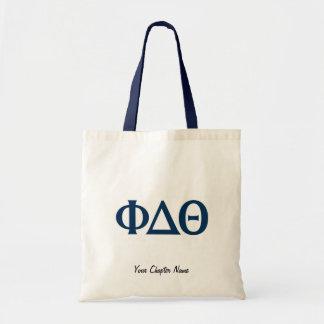 Greek Letters - Blue Canvas Bag