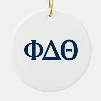 Greek Letters - Blue Christmas Ornament