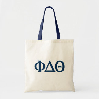 Greek Letters - Blue Tote Bag