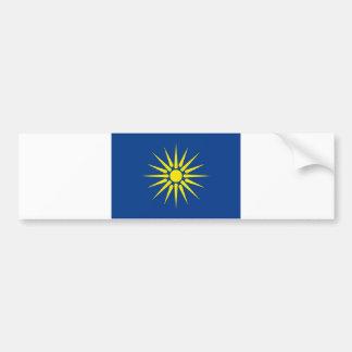 greek macedonia region flag greece country bumper sticker