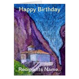 Greek Monastery Personalised Happy Birthday Card