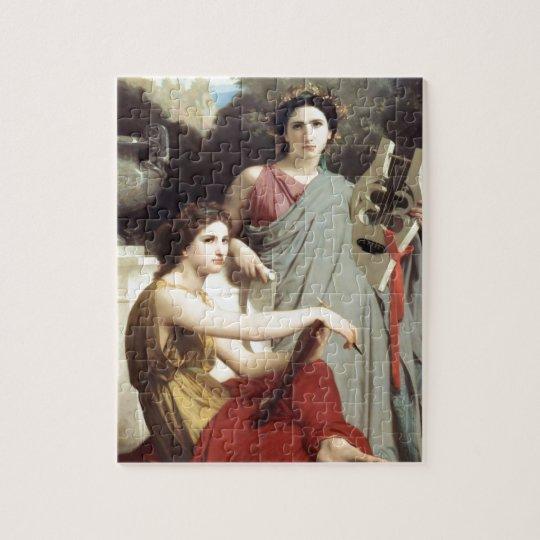 Greek Music Art Two Women painting Jigsaw Puzzle