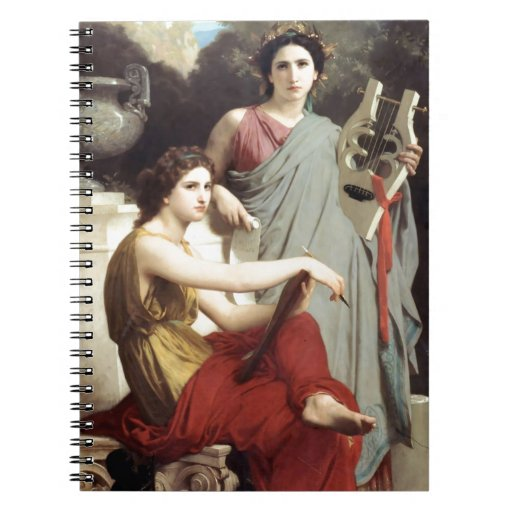 Greek Music Art Two Women painting Note Book