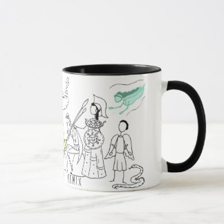 Greek Myth Comix logo mug