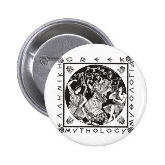 Greek Mythology - Black 6 Cm Round Badge