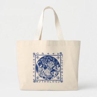Greek Mythology - Blue Large Tote Bag