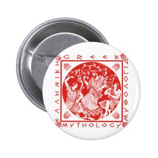 Greek Mythology - Red 6 Cm Round Badge