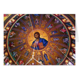 Greek Orthodox Ceiling - Beauty of Christmas Greeting Card