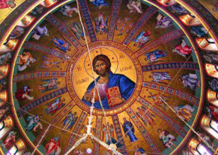 greek orthodox ceiling beauty of christmas holiday card - Greek Orthodox Christmas