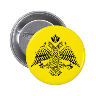 Greek Orthodox Church flag Mount Athos religious Pinback Buttons