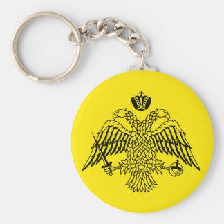 Greek Orthodox Church flag Mount Athos religious Basic Round Button Key Ring