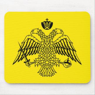 Greek Orthodox Church flag Mount Athos religious Mouse Mat