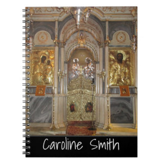 Greek Orthodox Church Iconostasis with your name Notebook