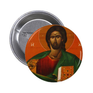 GREEK ORTHODOX ICON JESUS CHRIST PINBACK BUTTONS