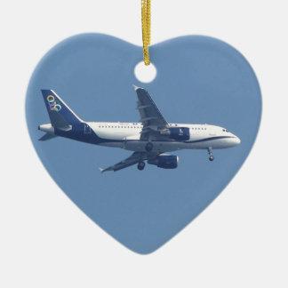 Greek Passenger Jet Christmas Ornament