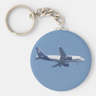 Greek Passenger Jet Key Ring