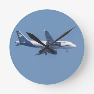 Greek Passenger Jet Round Clock