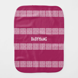 Greek Pattern custom baby burp cloth