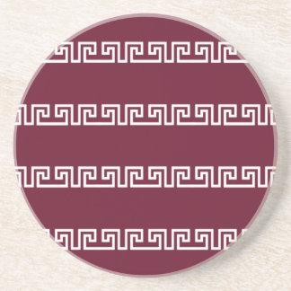 Greek Pattern custom coaster