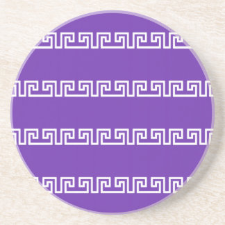 Greek Pattern custom coaster