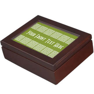 Greek Pattern custom keepsake box