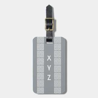 Greek Pattern custom luggage tag