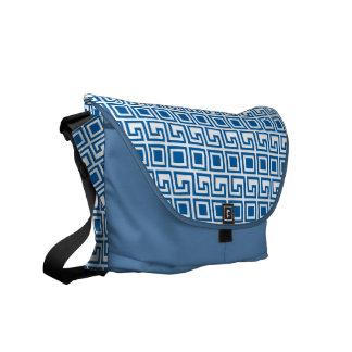 Greek Pattern custom messenger bag