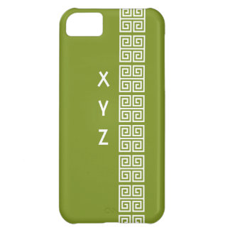Greek pattern custom monogram cases