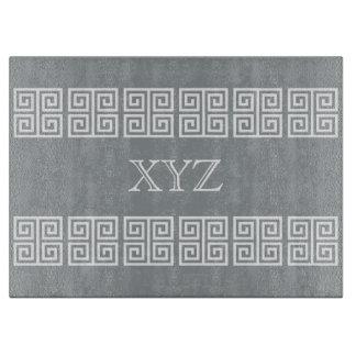 Greek Pattern custom monogram cutting boards