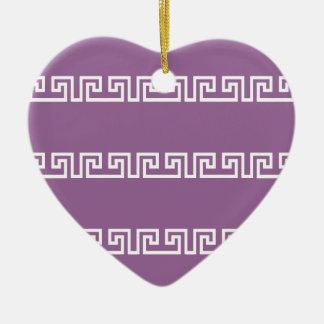 Greek Pattern custom ornament