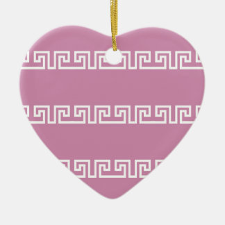 Greek Pattern custom ornament