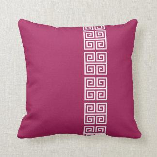 Greek Pattern custom throw pillow